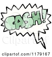 Cartoon Of A Conversation Bubble With The Word CASH Royalty Free Vector Illustration by lineartestpilot
