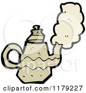 Cartoon Of A Coffee Pot Or Tea Kettle Royalty Free Vector Illustration by lineartestpilot