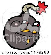 Cartoon Of A Cannonball Royalty Free Vector Illustration