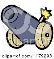 Cartoon Of A Cannon Royalty Free Vector Illustration