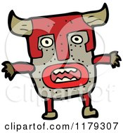 Cartoon Of A Witch Doctor Wearing A Wooden African Mask Royalty Free Vector Illustration