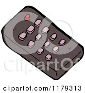 Cartoon Of A Tv Remote Royalty Free Vector Illustration by lineartestpilot