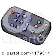 Cartoon Of A Tv Remote Royalty Free Vector Illustration