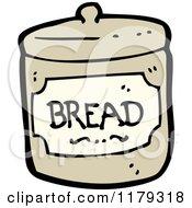Cartoon Of A Bread Jar Royalty Free Vector Illustration by lineartestpilot