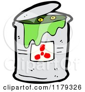 Cartoon Of A Can Of Radioactive Waste Royalty Free Vector Illustration