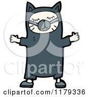Cartoon Of A Child Wearing A Cat Costume Royalty Free Vector Illustration