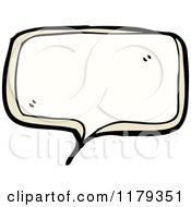 Cartoon Of A Conversation Bubble Royalty Free Vector Illustration