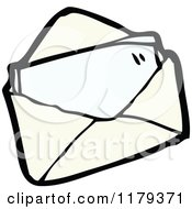 Cartoon Of A Letter In An Envelope Royalty Free Vector Illustration