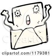 Cartoon Of A Surprised Letter In An Envelope Royalty Free Vector Illustration