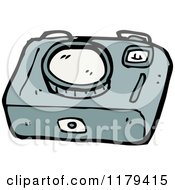 Cartoon Of A Camera Royalty Free Vector Illustration by lineartestpilot