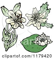 Clip Art Of Wildflowers Royalty Free Vector Illustration
