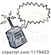 Cartoon Of A Walkie Talkie With A Conversation Bubble Royalty Free Vector Illustration