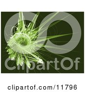 Green Fractal Clipart Illustration by AtStockIllustration