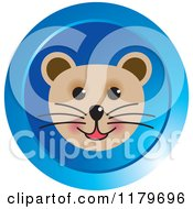 Clipart Of A Happy Tiger Or Cat Face Icon Royalty Free Vector Illustration