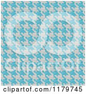 Clipart Of A Seamless Blue And White Houndstooth Pattern Royalty Free Illustration by Arena Creative