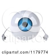 Clipart Of A 3d Blue Eyeball Mascot Royalty Free CGI Illustration