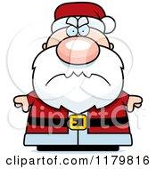 Cartoon Of A Mad Chubby Santa Royalty Free Vector Clipart