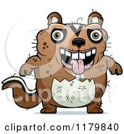 Cartoon Of A Drooling Ugly Chipmunk Royalty Free Vector Clipart by Cory Thoman