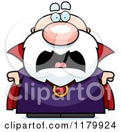 Cartoon Of A Screaming Chubby Wizard Royalty Free Vector Clipart