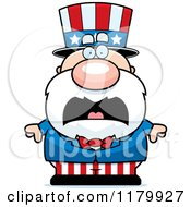 Cartoon Of A Screaming Chubby Uncle Sam Royalty Free Vector Clipart
