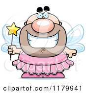 Cartoon Of A Grinning Chubby Male Tooth Fairy Royalty Free Vector Clipart