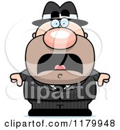 Cartoon Of A Scared Chubby Mobster Royalty Free Vector Clipart by Cory Thoman