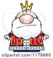 Cartoon Of A Skeptical Or Annoyed Chubby King Royalty Free Vector Clipart by Cory Thoman
