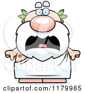 Cartoon Of A Scared Chubby Greek Man Royalty Free Vector Clipart by Cory Thoman