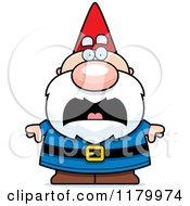 Cartoon Of A Scared Chubby Male Gnome Royalty Free Vector Clipart by Cory Thoman