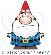 Cartoon Of A Bored Chubby Male Gnome Royalty Free Vector Clipart by Cory Thoman