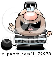 Cartoon Of A Chubby Convict With An Idea Royalty Free Vector Clipart by Cory Thoman