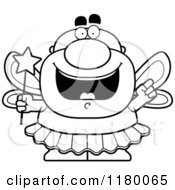 Poster, Art Print Of Black And White Smart Chubby Male Tooth Fairy With An Idea