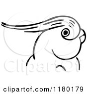 Clipart Of A Black And White Parrot 2 Royalty Free Vector Illustration by Prawny Vintage