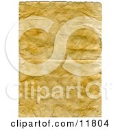Aged Yellowed And Wrinkled Paper Background Clipart Illustration