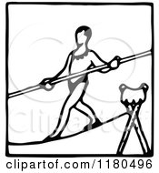 Black And White Tightrope Walker Icon