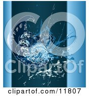 Blue Grunge Fractal Clipart Illustration by AtStockIllustration