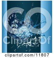 Blue Grunge Fractal
