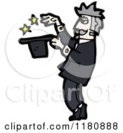Cartoon Of A Magician Royalty Free Vector Illustration