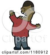 Cartoon Of An Black Man Singing Royalty Free Vector Illustration