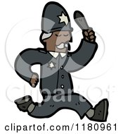 Cartoon Of A Black Policeman Royalty Free Vector Illustration by lineartestpilot