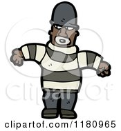 Cartoon Of An Black Male Criminal Royalty Free Vector Illustration by lineartestpilot