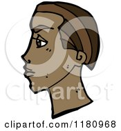 Cartoon Of An Black Mans Head Royalty Free Vector Illustration by lineartestpilot