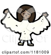 Cartoon Of A Black Girl Wearing An Angel Costume Royalty Free Vector Illustration by lineartestpilot