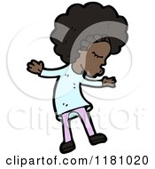 Cartoon Of A Black Girl Royalty Free Vector Illustration by lineartestpilot
