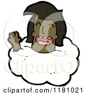 Cartoon Of A Black Girls Head In A Cloud Royalty Free Vector Illustration by lineartestpilot