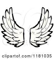 Cartoon Of Angel Wings Royalty Free Vector Illustration by lineartestpilot