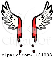 Cartoon Of Bloody Angel Wings Royalty Free Vector Illustration by lineartestpilot