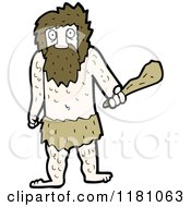 Cartoon Of A Caveman Royalty Free Vector Illustration by lineartestpilot