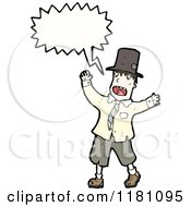 Cartoon Of A Man Dressed As A Hobo Speaking Royalty Free Vector Illustration