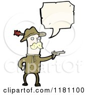 Cartoon Of A Man Dressed As General Custer Speaking Royalty Free Vector Illustration by lineartestpilot